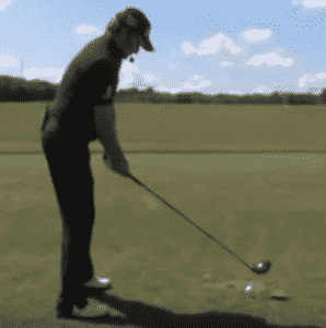 Graeme McDowell setting up with a waggle proper golf stance setup