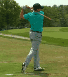 Jordan Spieth uses an aiming stick to get the most out of his golf warmup and golf practice routine.