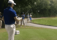 Justin Rose picking a close in spot to aim at