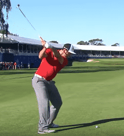 Jon Rahm made sure to get the ball all the way to the hole on his approach shot. when to use which club which golf club to use choose golf club choose correct club for a shot