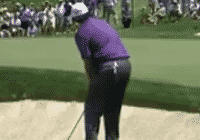 Phil Mickelson Picks a spot to land his chip shot