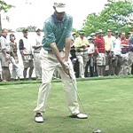 Golf Swing Tip:  Learn a Balanced and Powerful Golf Swing By Sitting on the Barstool