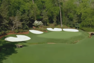 Augusta National 13 green read putts and green from fairway read your putt read the green