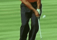 Tiger Woods keeps his hands ahead of the clubface well after contact with the ball while chipping golf chipping golf chipping tip golf chipping technique chipping golf ball