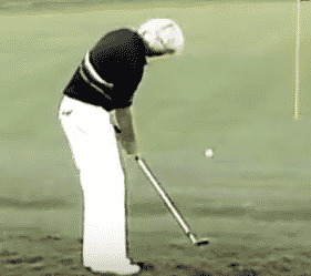 Greg Norman chip in from the greenside rough up and down drill