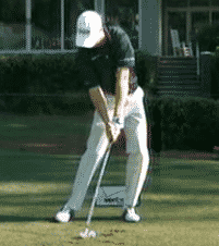 Zach Johnson tee shot with iron tee the ball low