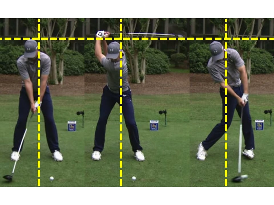 Jordan Spieth head still during golf swing driver