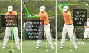 webb simpson golf swing sequence address to the top showing golf lag