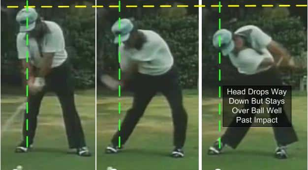 Lee Trevino Chase the Ball Down the Line Clubhead Golf Swing Release