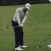 Justin Thomas using no backswing golf swing to warm up