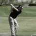 Jason Dufner at the top of his relatively short backswing